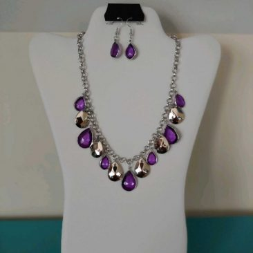 Fiesta Jewelry Booktique silver purple beads necklace women