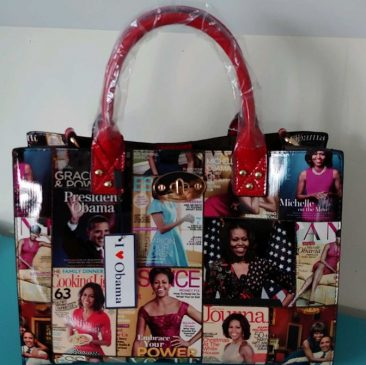 Booktique Michelle Obama handbag